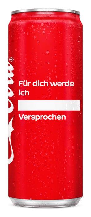 Für dich werde ich ____. Versprochen - Coca-Cola Das Original