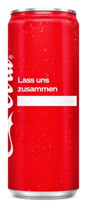 Lass uns zusammen ____ - Coca-Cola Das Original