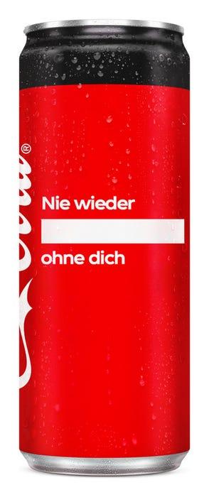 Nie wieder ____ ohne dich - Coca-Cola Zero Sugar