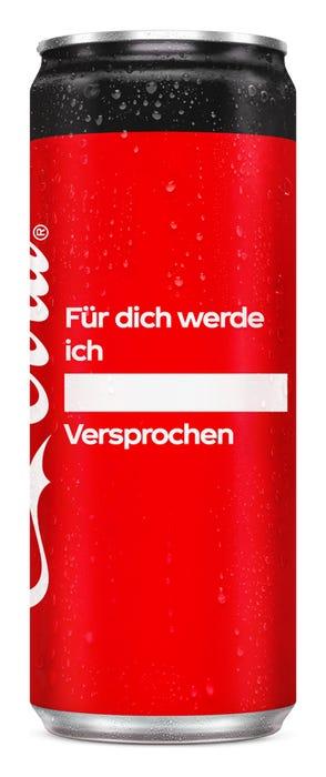 Für dich werde ich ____. Versprochen - Coca-Cola Zero Sugar