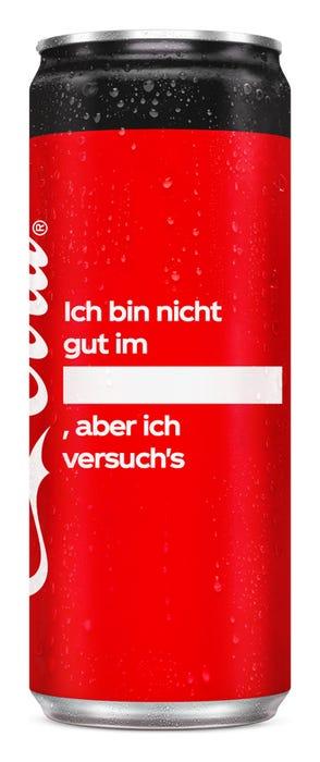 Ich bin nicht gut im ____, aber ich versuch's - Coca-Cola Zero Sugar