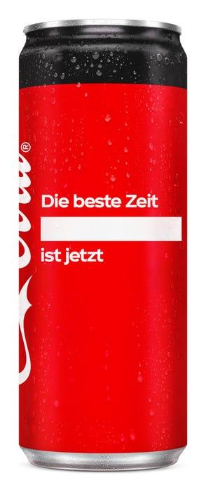Die beste Zeit ____ ist jetzt. - Coca-Cola Zero Sugar